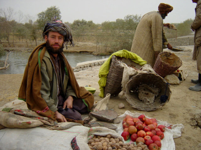 Man Selling Food