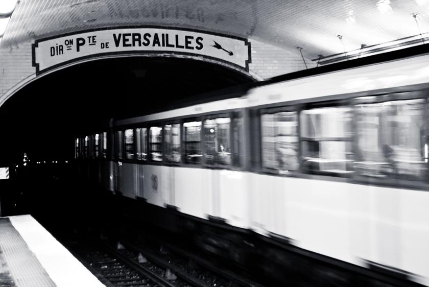 metro station notre dame de lorette paris in light and dark. Black Bedroom Furniture Sets. Home Design Ideas